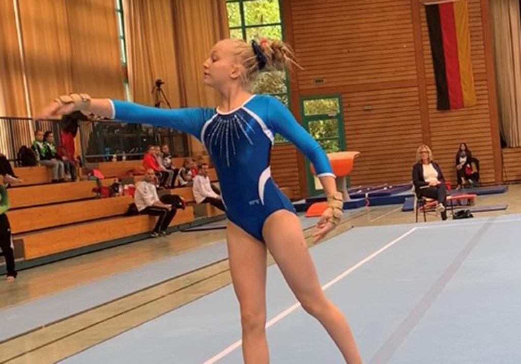 BTV Deutschlandpokal 2019 Bodenturnen mit Sportbekleidung vom deutschen Hersteller ERVY