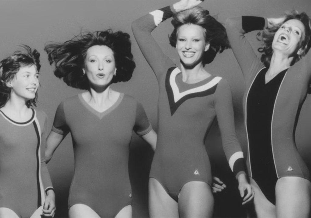 frühere Aufnahmen von Turnerinnen in Sportbekleidung vom deutschen Hersteller ERVY