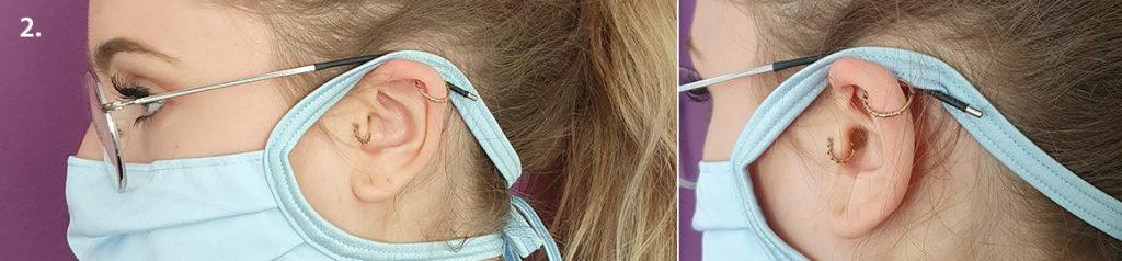 Tragevarianten für Brillenträger von nachhalten Mund-Nasen-Masken vom deutschen Hersteller ERVY
