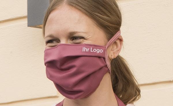 mit Logo personalisierte nachhaltige Mund-Nasen-Maske vom deutschen Hersteller ERVY