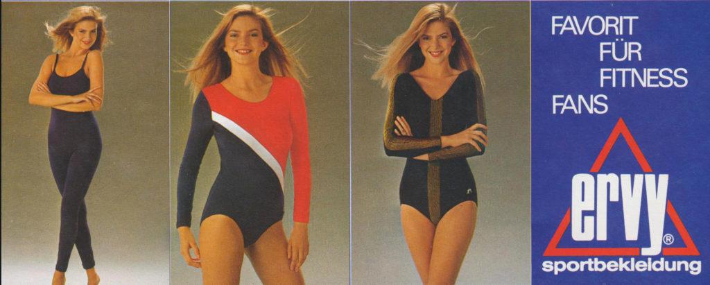 Sportbekleidung der 90er Jahre vom deutschen Hersteller ERVY