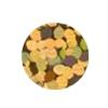 ERVY Turnanzug Veredelung mit Pailletten in der Farbe holo-gold