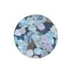 ERVY Turnanzug Veredelung mit Pailletten in der Farbe holo-silber