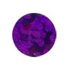 ERVY Turnanzug Veredelung mit Pailletten in der Farbe holo-violett