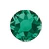 ERVY Turnanzug Veredelung mit Strasssteinen in der Farbe Emerald