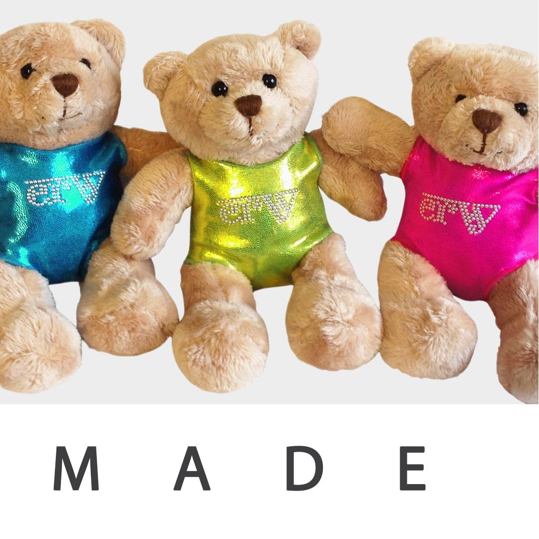 Instagram Post mit Teddybären in Turnanzügen vom deutschen Hersteller ERVY