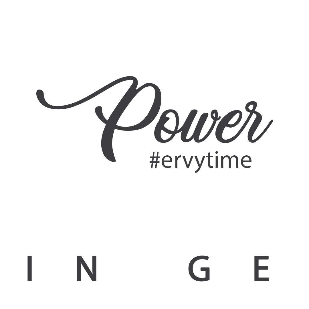 Instagram Post mit Schriftzug Power vom deutschen Hersteller ERVY