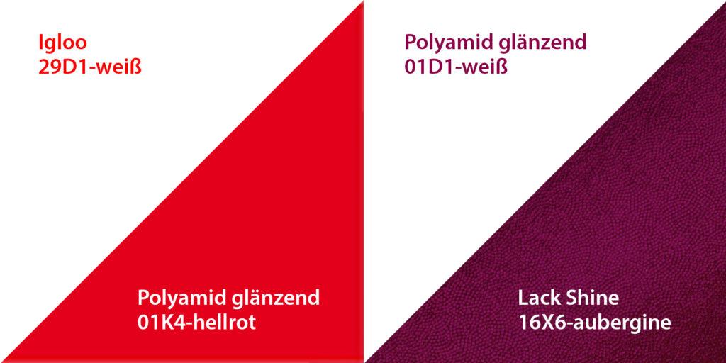 richtige Pflege von Stoffen mit starken Farbkontrast vom deutschen Hersteller ERVY