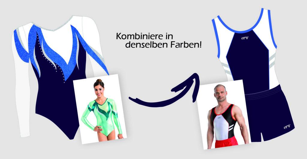 Passende Turnkleidung für Mixed Teams und Vereine vom deutschen Hersteller ERVY