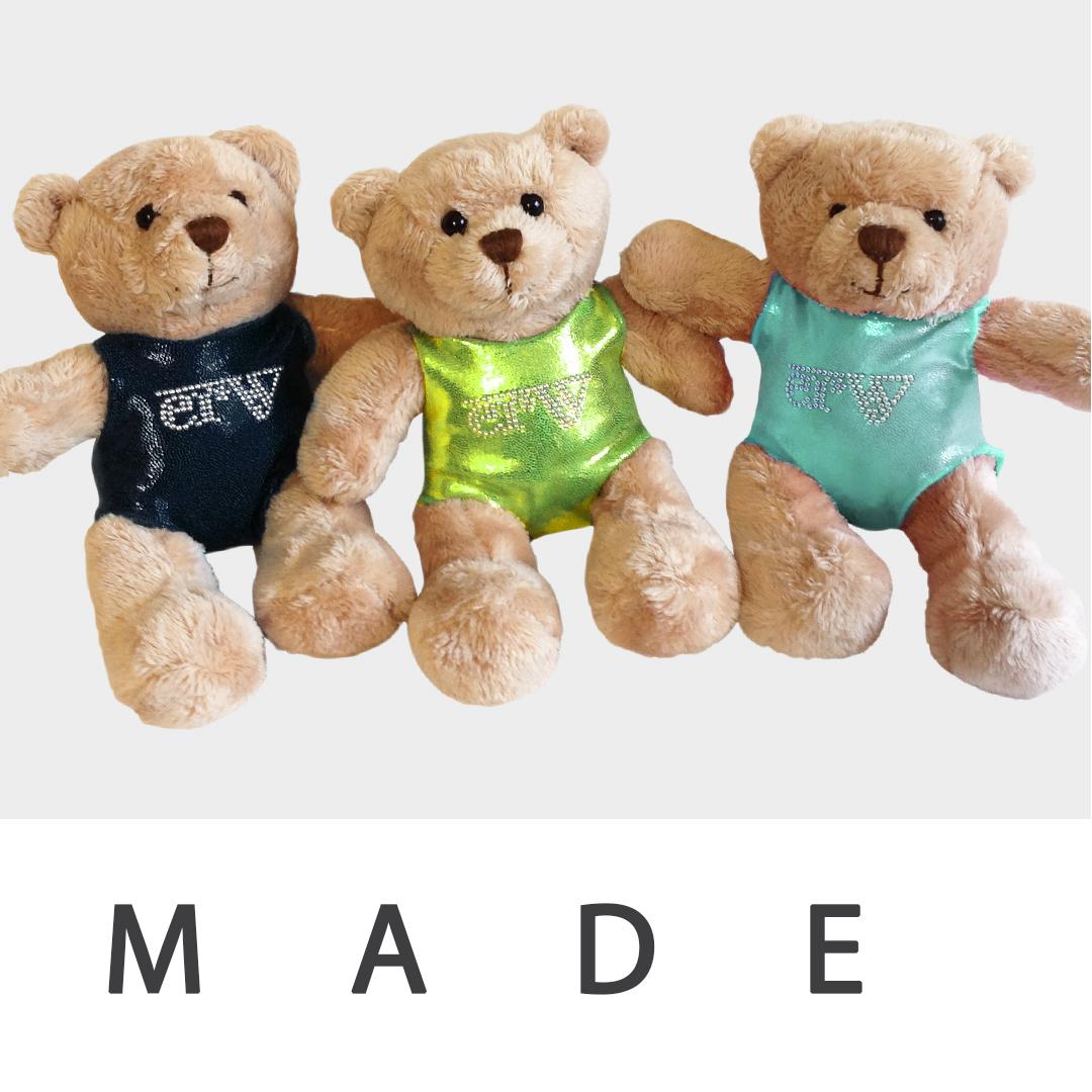ERVY Teddybären in blau grün und mint Made in Germany